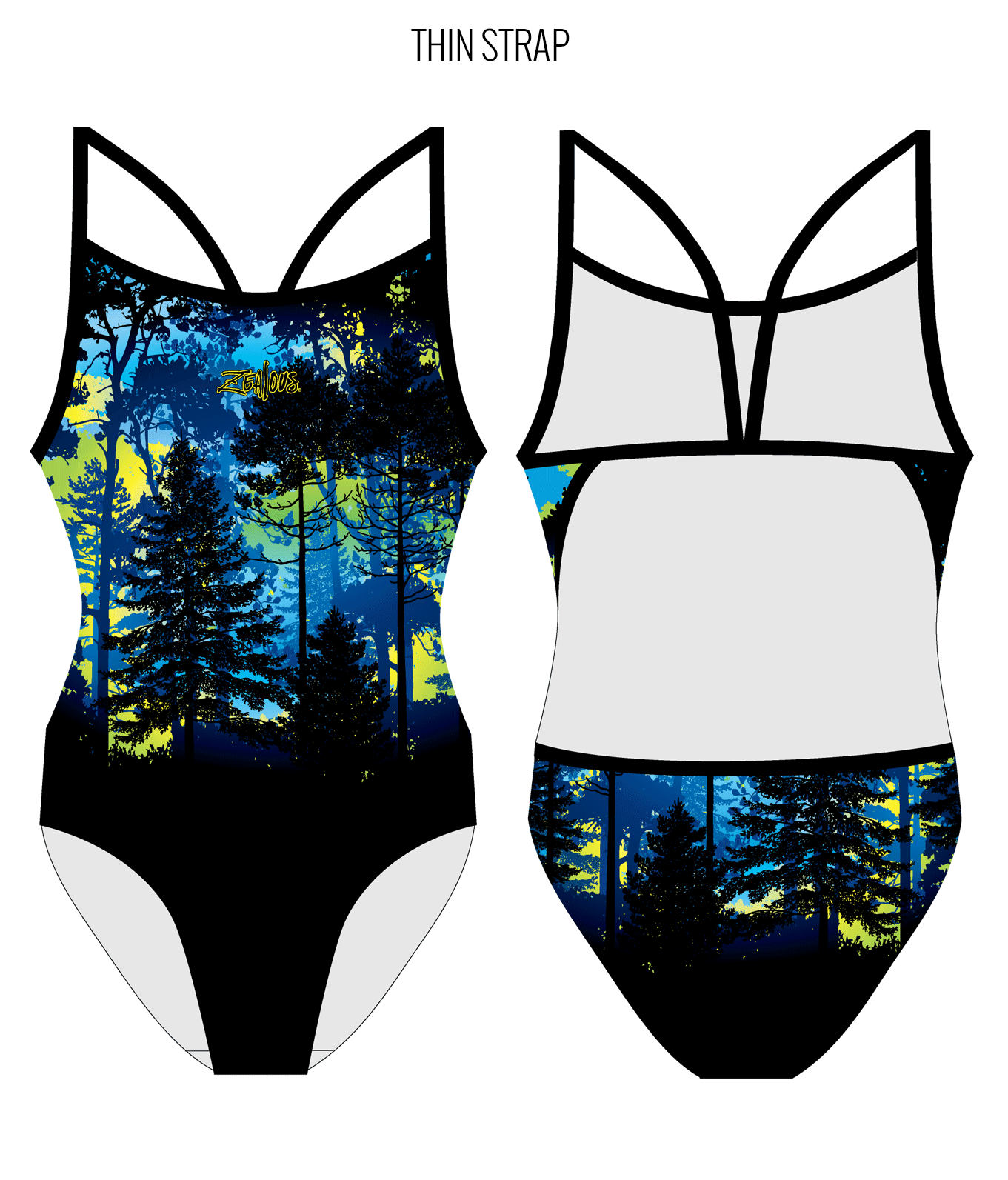 MIDNIGHT MAGIC - FEMALE Personalised Swimwear - Shop Zealous Training Swimwear