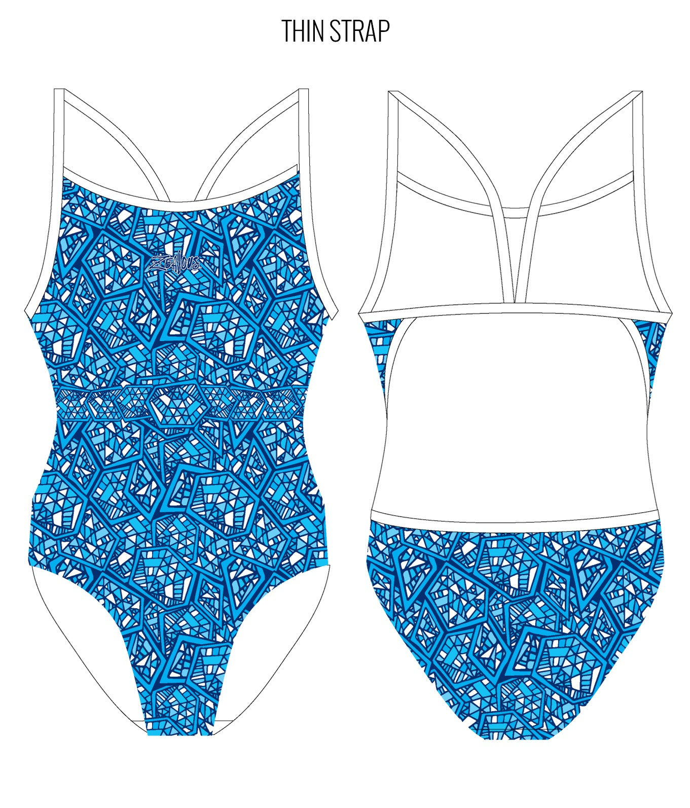 DAY BREAK - FEMALE Personalised Swimwear - Shop Zealous Training Swimwear
