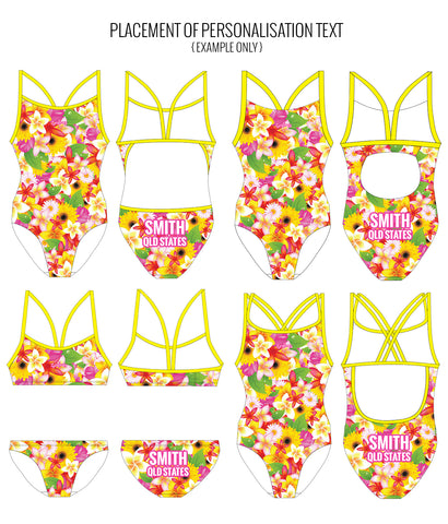 PARADISE PUNCH - FEMALE Personalised Swimwear - Shop Zealous Training Swimwear