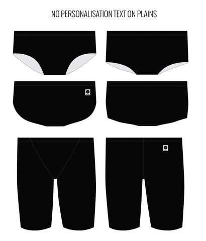 PITCH BLACK - MALE Personalised Swimwear - Shop Zealous Training Swimwear