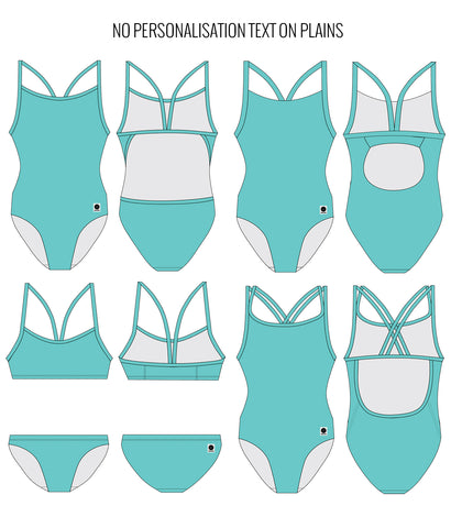 SEA FOAM - FEMALE Personalised Swimwear - Shop Zealous Training Swimwear