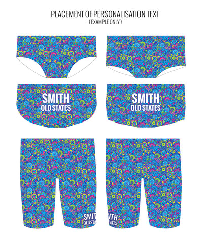 WILDFLOWER - MALE Personalised Swimwear - Shop Zealous Training Swimwear