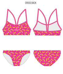 BANANARAMA {PINK} - FEMALE Personalised Swimwear - Shop Zealous Training Swimwear