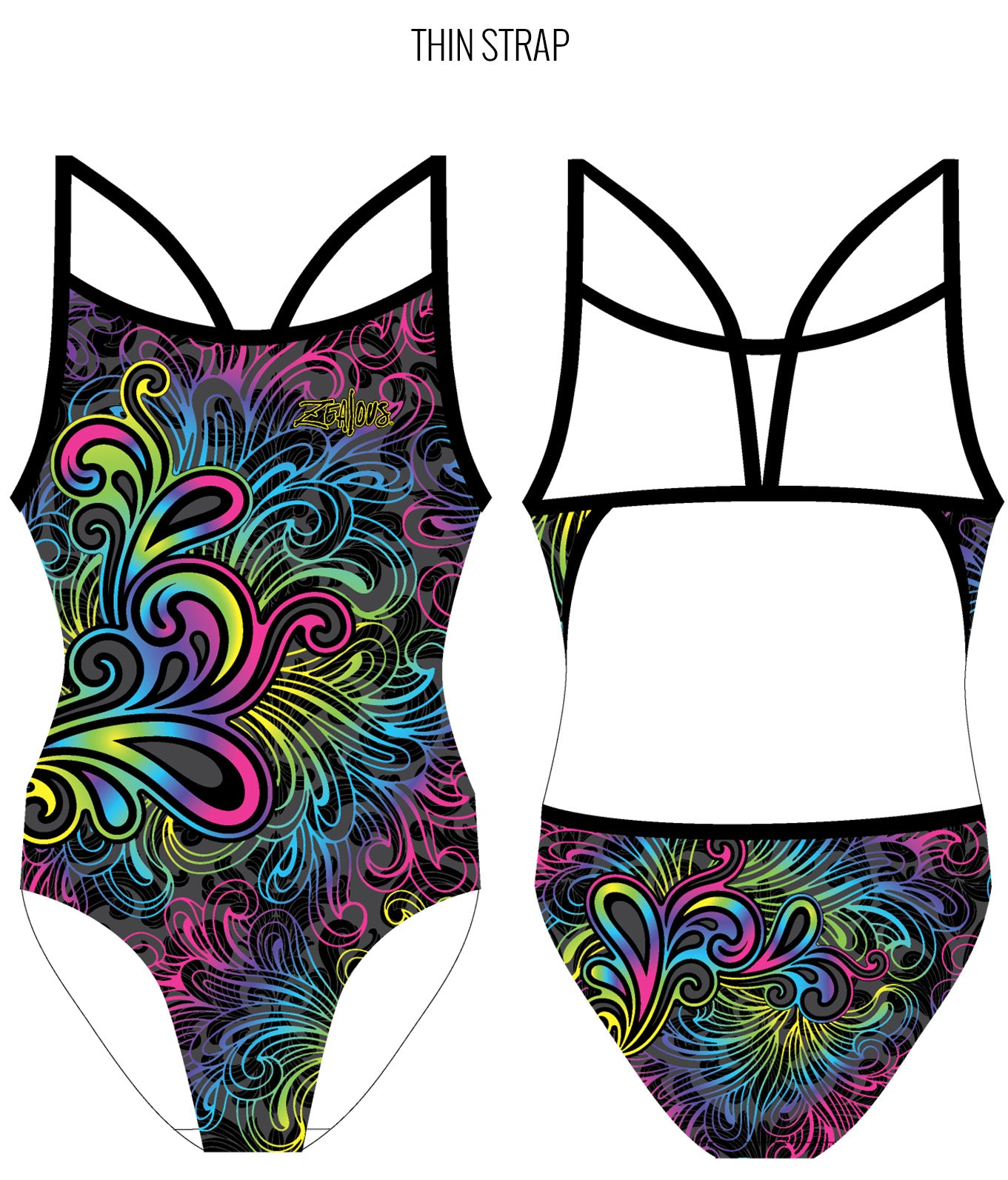 LADY SOUL - FEMALE Personalised Swimwear - Shop Zealous Training Swimwear