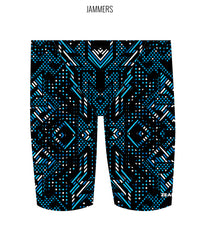 AZTEC {BLUE) - MALE Personalised Swimwear - Shop Zealous Training Swimwear