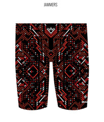 AZTEC {RED) - MALE Personalised Swimwear - Shop Zealous Training Swimwear