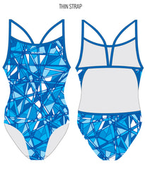 BLUE SMASH - FEMALE Personalised Swimwear - Shop Zealous Training Swimwear