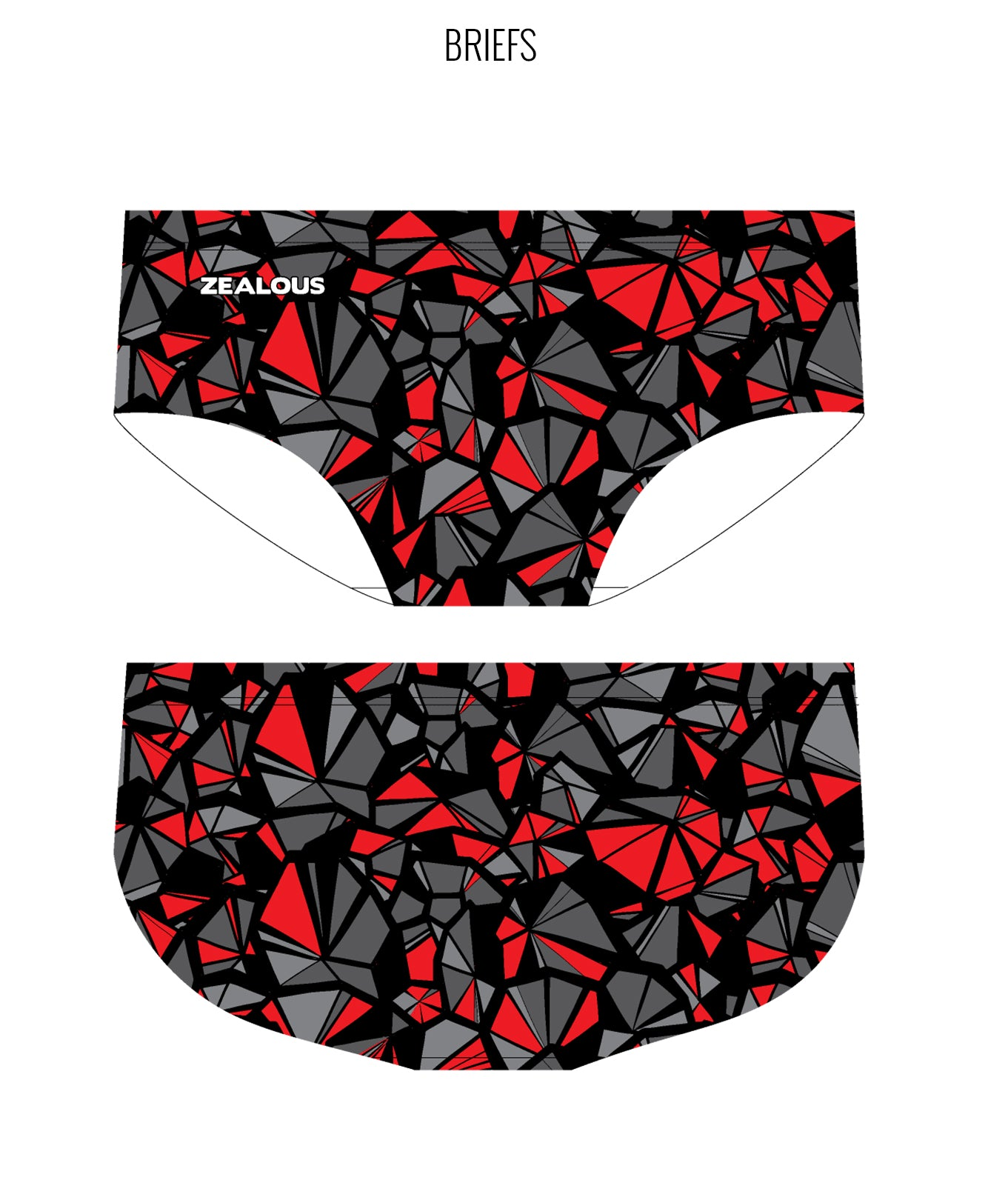 SHATTERS {RED} - MALE Personalised Swimwear - Shop Zealous Training Swimwear