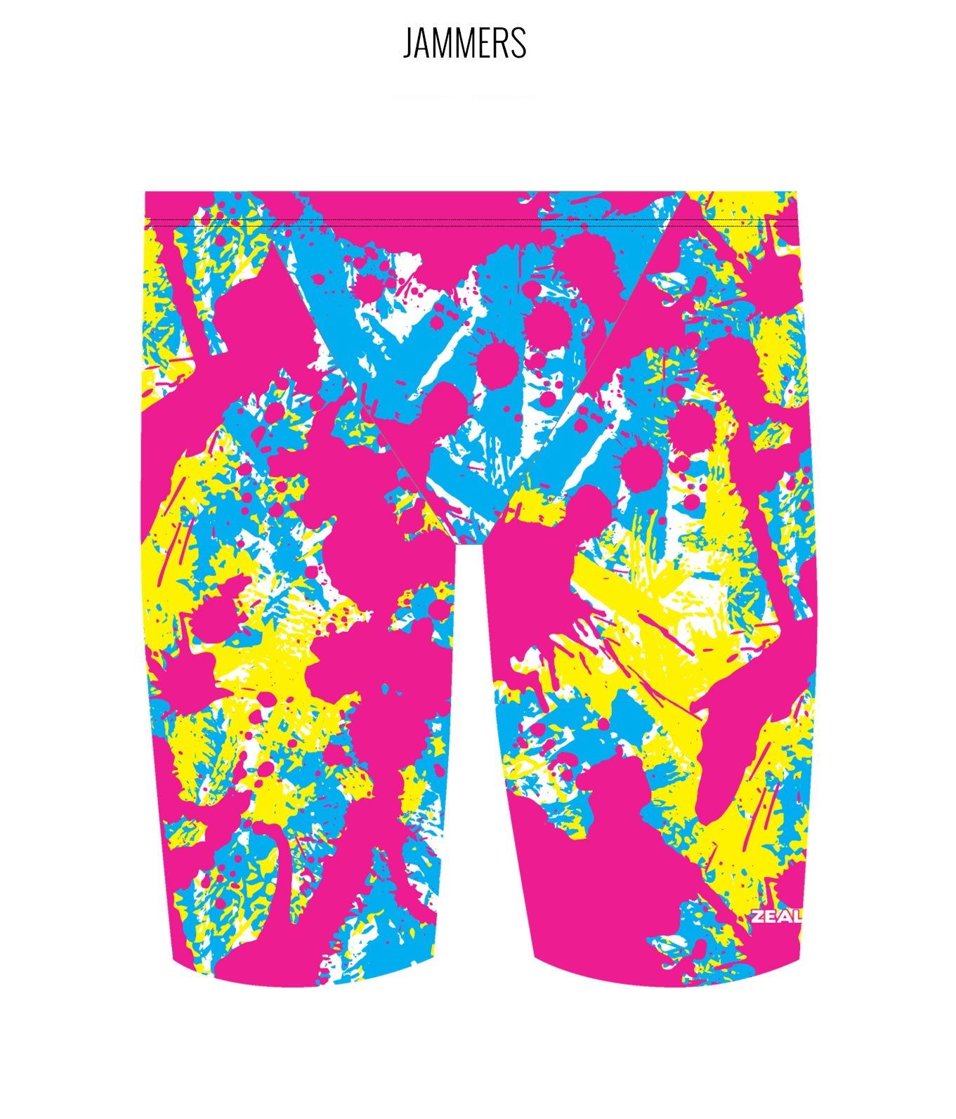 SPLAT ATTACK {MULTI} - MALE Personalised Swimwear - Shop Zealous Training Swimwear