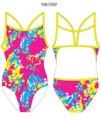 SPLAT ATTACK {MULTI} - FEMALE Personalised Swimwear - Shop Zealous Training Swimwear