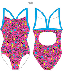 #WOW {PINK} - FEMALE Personalised Swimwear - Shop Zealous Training Swimwear