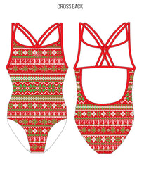 SANTA BABY - FEMALE Personalised Swimwear - Shop Zealous Training Swimwear