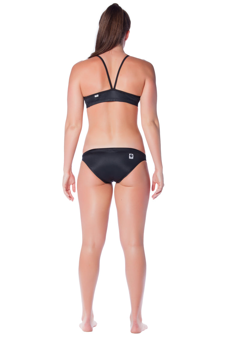 Pitch Black Brief - Ladies 12 Only Ladies Two Piece - Briefs - Shop Zealous Training Swimwear