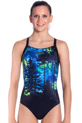 Midnight Magic Girls Racers - Shop Zealous Training Swimwear