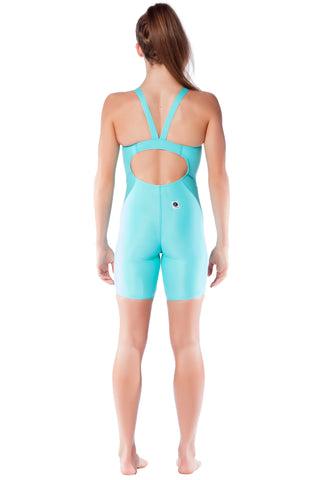 Aqua Blue Racer Girls Kneelengths - Shop Zealous Training Swimwear