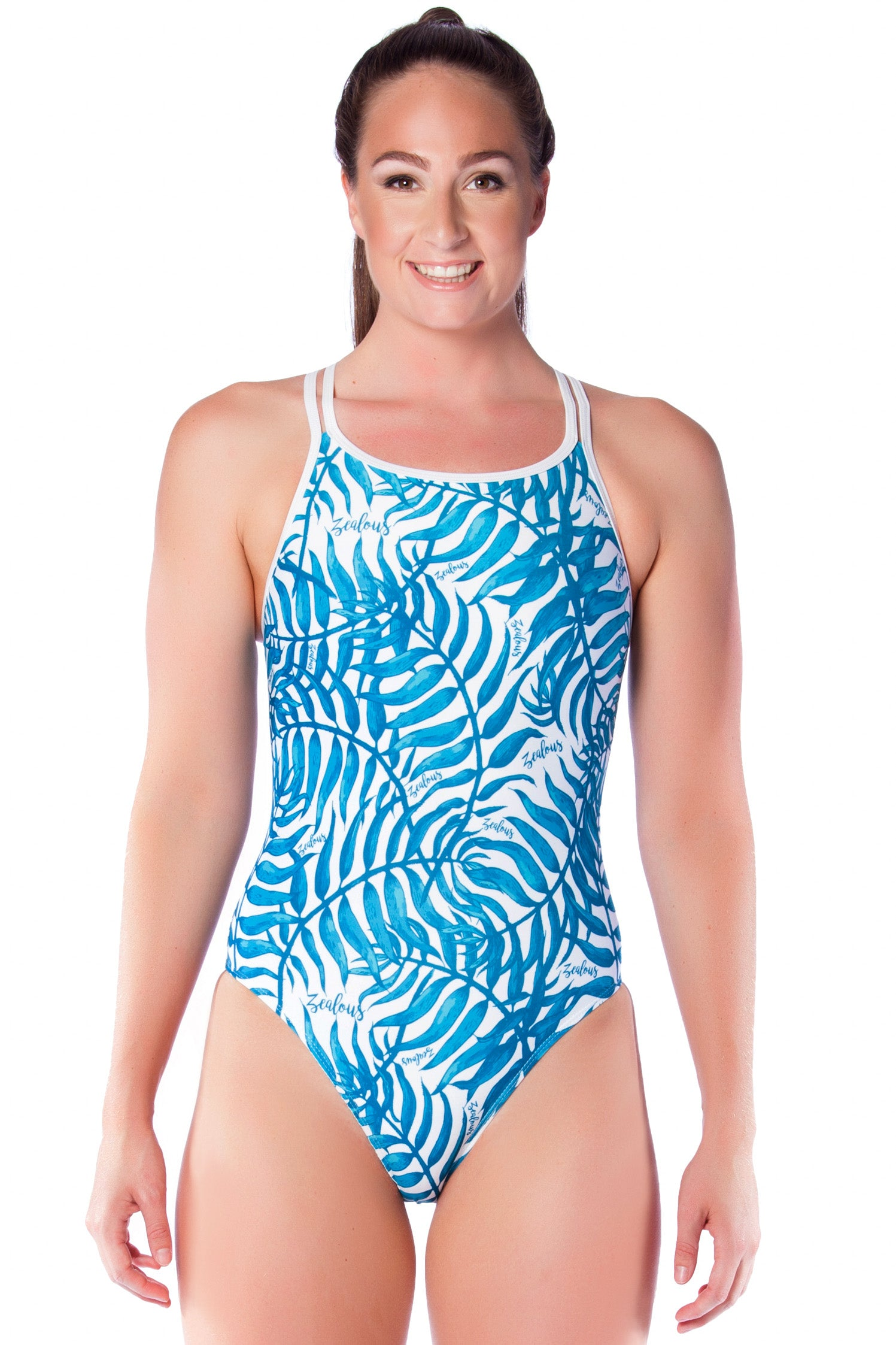 7177c4673dc05 Crystal Cove Ladies Cross Back - Shop Zealous Training Swimwear