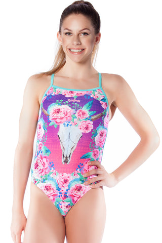 Desert Rose - Girls 14 ONLY Girls Thin Strap - Shop Zealous Training Swimwear