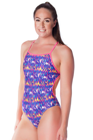 Lilac Lustre Ladies Thin Strap - Shop Zealous Training Swimwear