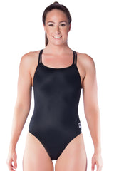 Pitch Black Ladies Cross Back - Shop Zealous Training Swimwear