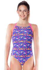 San Fran Sunset Girls Racers - Shop Zealous Training Swimwear