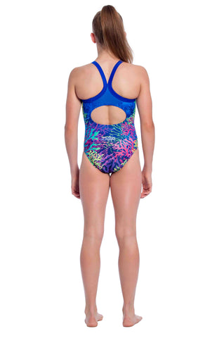 Aquamarine Girls Racers - Shop Zealous Training Swimwear