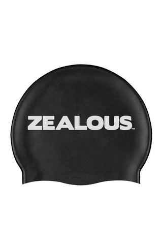 Basic Black Silicone Cap - Shop Zealous Training Swimwear