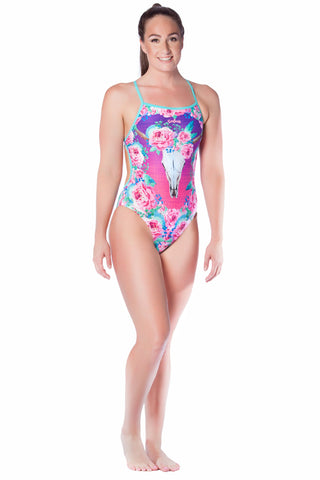 Desert Rose Ladies Thin Strap - Shop Zealous Training Swimwear