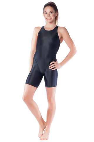 Pitch Black Racer Girls Kneelengths - Shop Zealous Training Swimwear
