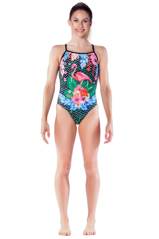 Flamenco Girls Thin Strap - Shop Zealous Training Swimwear