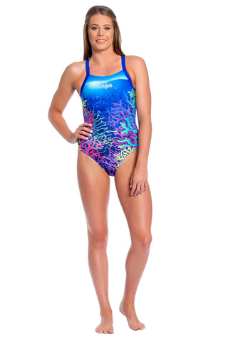 Aquamarine Ladies Racers - Shop Zealous Training Swimwear