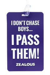 I Don't Chase Boys. I Pass Them - Bag Tag Bag Tag - Shop Zealous Training Swimwear