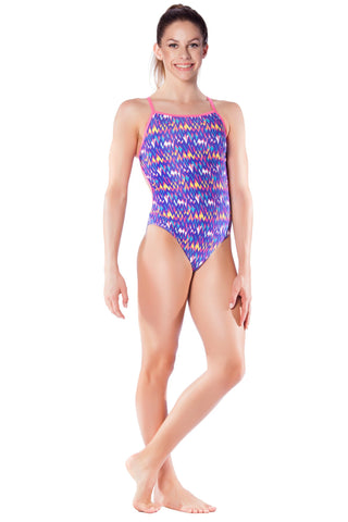 Lilac Lustre Girls Thin Strap - Shop Zealous Training Swimwear