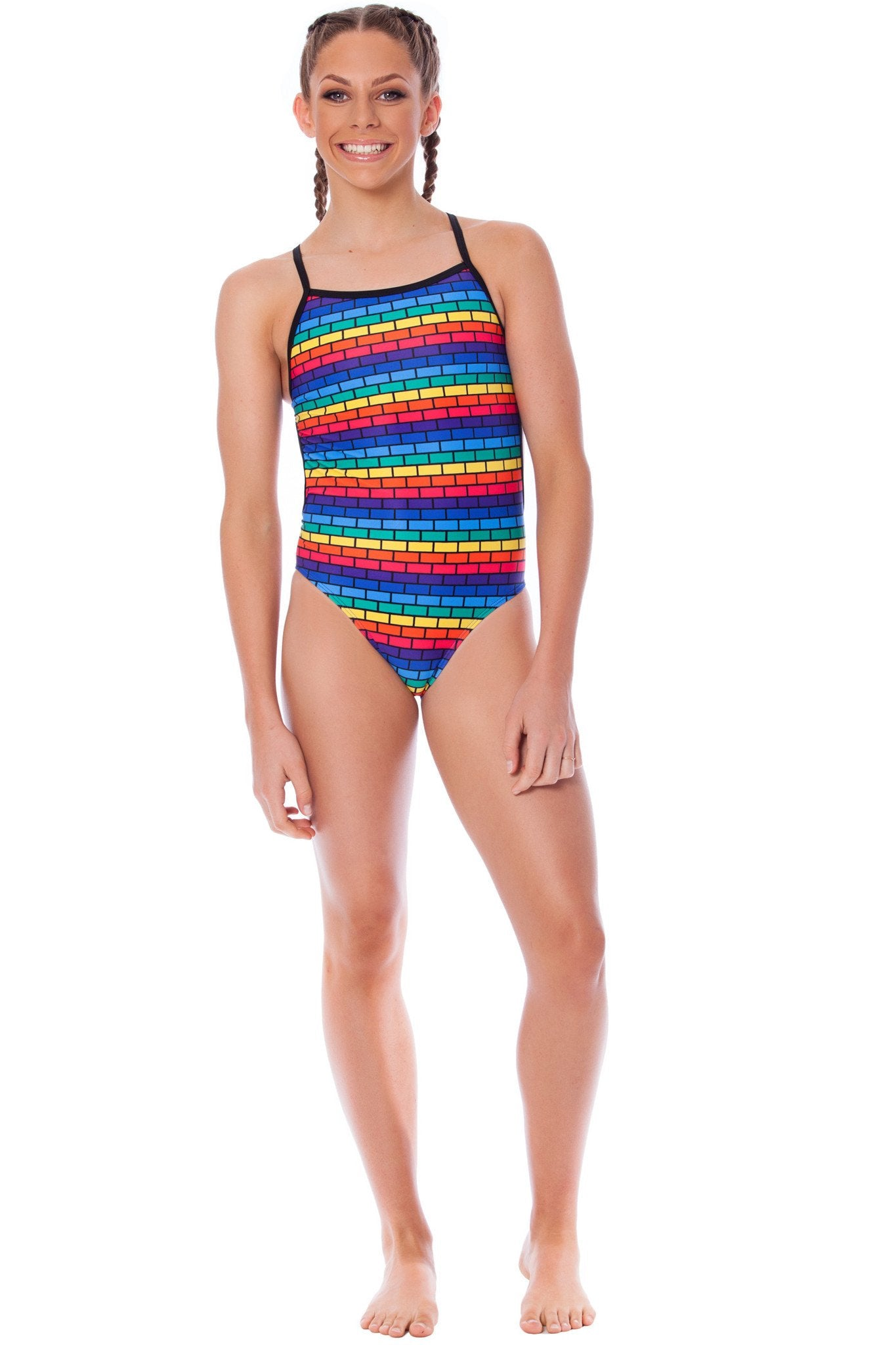 Follow Me Girls Thin Strap - Shop Zealous Training Swimwear