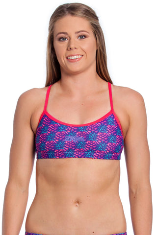 Pink Paradise Top - Ladies 8 Only Ladies Two Piece - Tops - Shop Zealous Training Swimwear