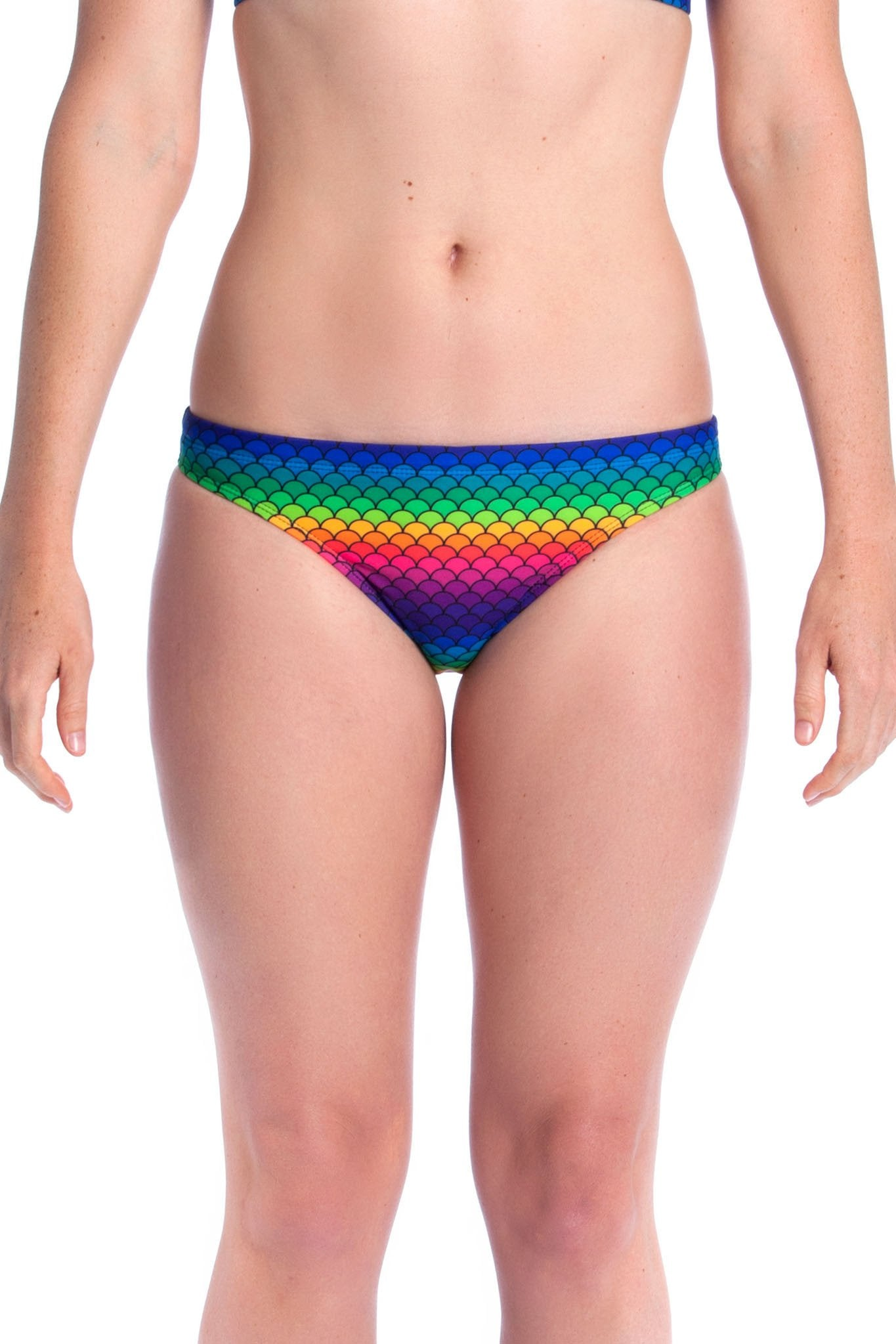 Rainbow Fish Briefs - Ladies 08 ONLY Ladies Two Piece - Briefs - Shop Zealous Training Swimwear