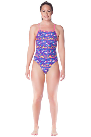 Lilac Lustre - Ladies 10 Only Ladies Thin Strap - Shop Zealous Training Swimwear