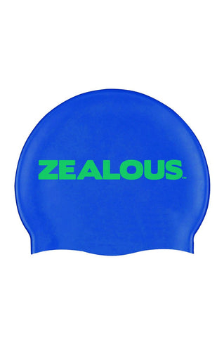 Basic Blue Silicone Cap - Shop Zealous Training Swimwear