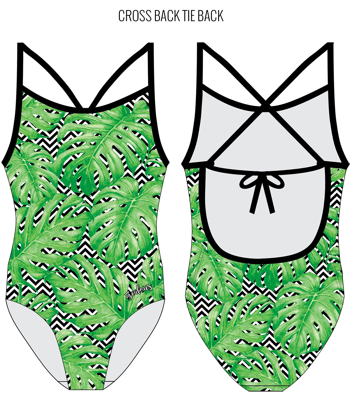 PALM BEACH - FEMALE Personalised Swimwear - Shop Zealous Training Swimwear
