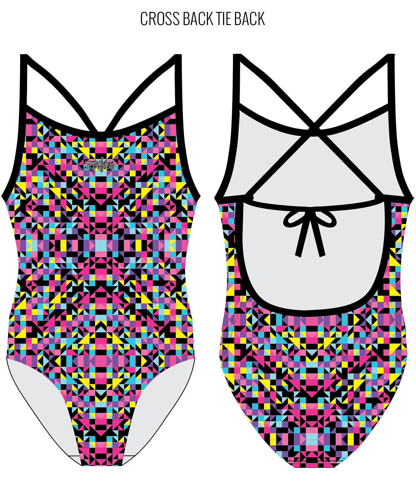 POP ROCKS - FEMALE Personalised Swimwear - Shop Zealous Training Swimwear