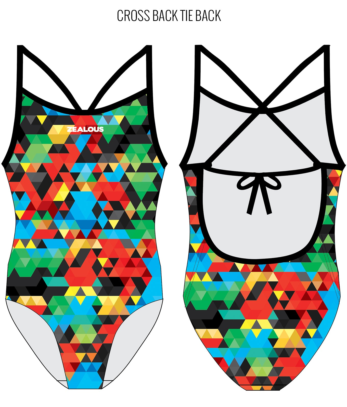 SHOWDOWN - FEMALE Personalised Swimwear - Shop Zealous Training Swimwear