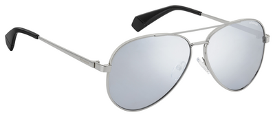 Polaroid Mirrored Aviator - Silver