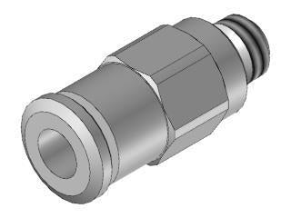 Straight male adapter (parallel) 4 M5
