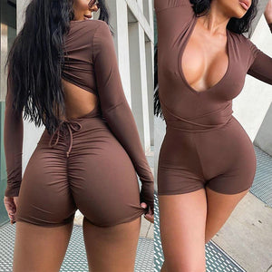 Backless Drawstring Jumpsuit