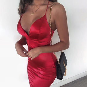 Satin' Up Dress