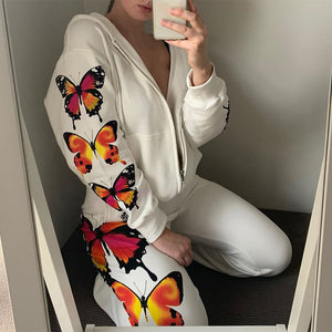 Butterfly Effect Zip Up