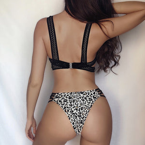Push Up Leopard Bikini