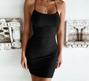 Cross Backless Dress