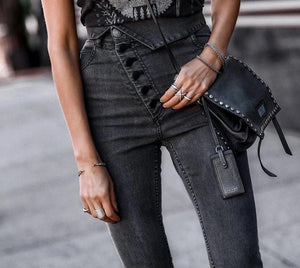 High Waist Skinny Black Jeans