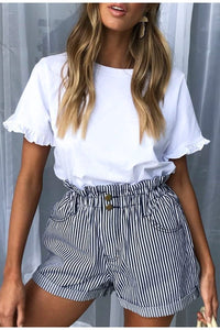 Simple Casual Striped shorts