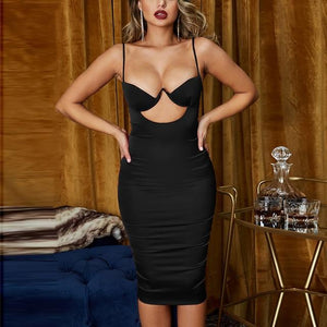 Push Up Satin Dress